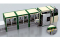 End position monitoring at the scissor lift table