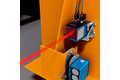 Positioning and data transmission at the stacker crane