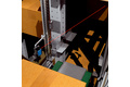 Fine positioning of the x and y axes in the automated small parts storage area