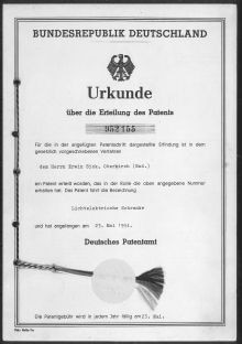 Urkunde Patentamt