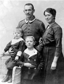 Erwin Sick und Familie