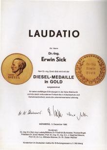 Diesel-Medaille in Gold