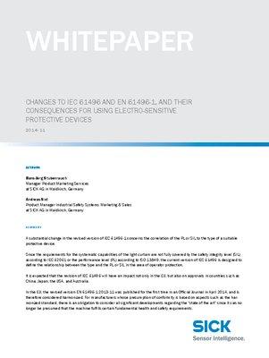 Changes IEC 61496