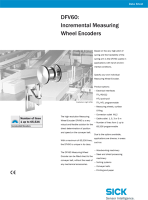 DFV60: Incremental Measuring Wheel Encoders