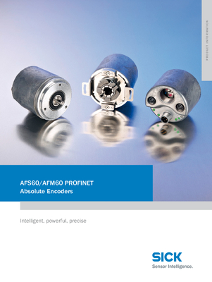AFS60/AFM60 PROFINET Absolute Encoders