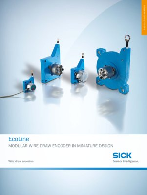 Ecoline Modular Wire Draw Encoders in smallest Design