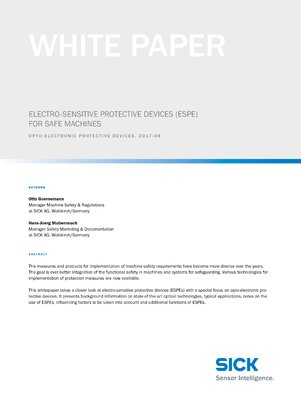 Electro-sensitive protective devices (ESPE) for safe machines