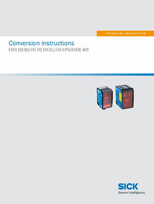 BA Conversion instructions FOR DX30/60 TO DX35/50 UPGRADE KIT