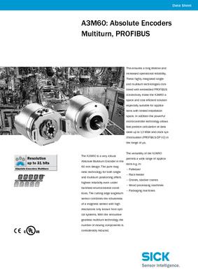 A3M60: Absolute Encoders Multiturn, PROFIBUS